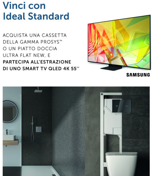 """Scegli Ideal Standard e Vinci"": in palio 13 Smart TV"
